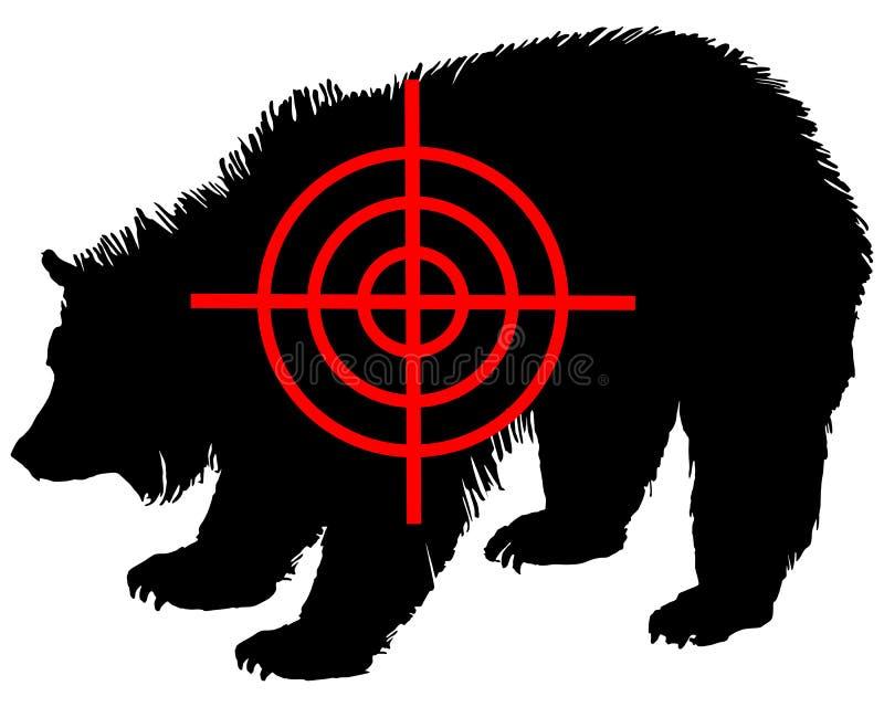 crosshair niedźwiadkowy grizzly ilustracji