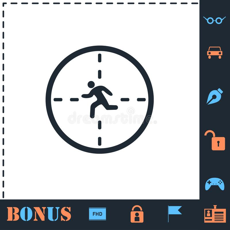 Crosshair icon flat. Crosshair. Perfect icon with bonus simple icons vector illustration