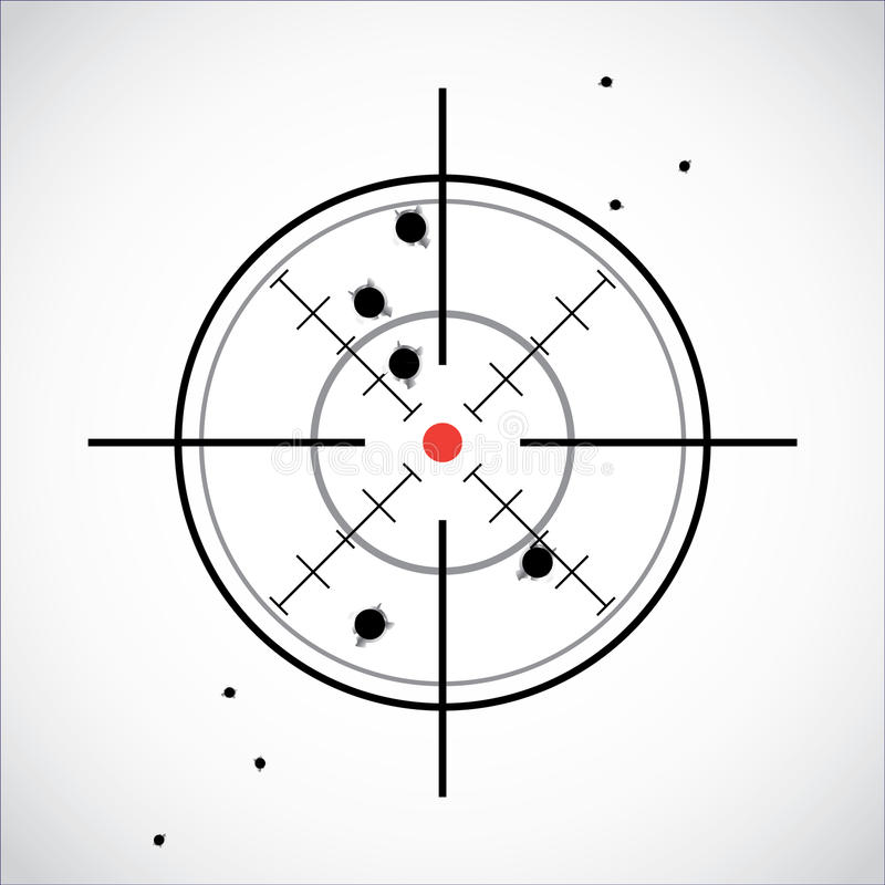 Crosshair With Red Dot Stock Image