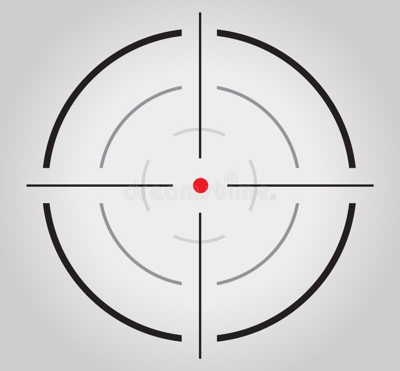 Crosshair, retículo, visor, gráficos do alvo ilustração do vetor
