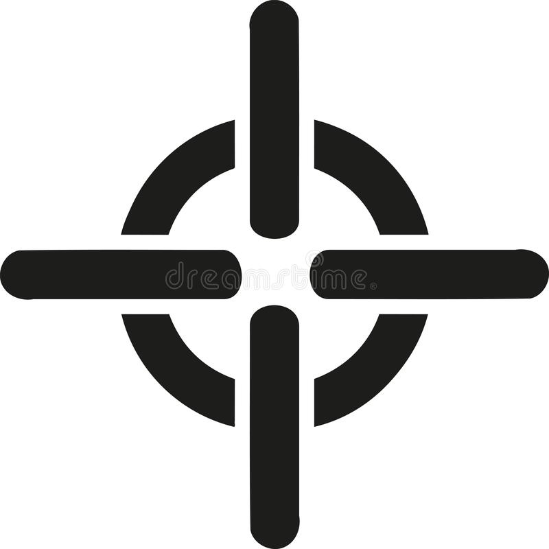 Crosshair symbol. Sniper shooting stock illustration