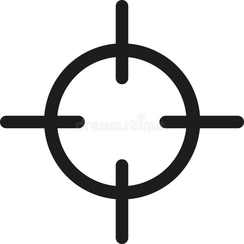 Crosshair target symbol. Sniper vector illustration