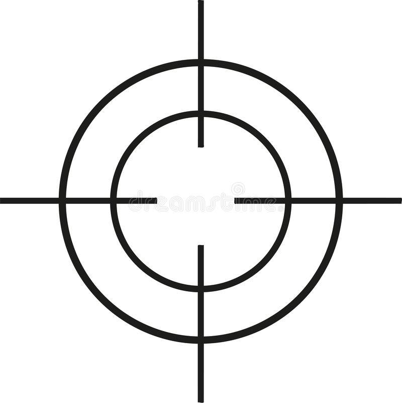 Crosshair thin. Shooting sniper royalty free illustration