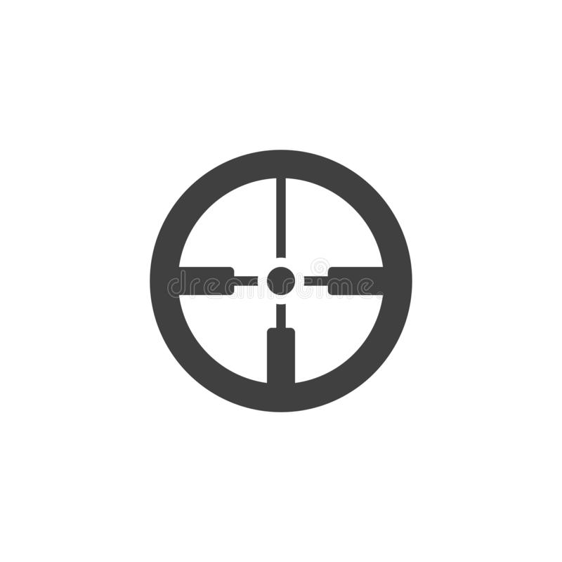 Crosshair vector icon. Filled flat sign for mobile concept and web design. Aim, target glyph icon. Symbol, logo illustration. Vector graphics vector illustration