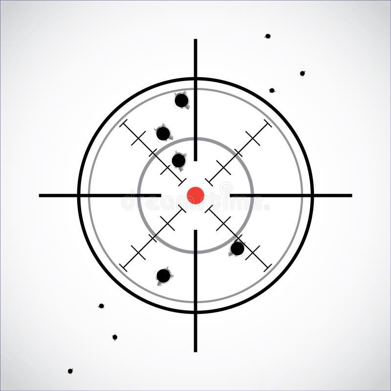 Crosshairen med rött pricker vektor illustrationer