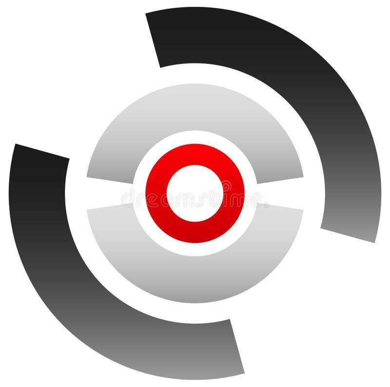 Crosshairpictogram, doelsymbool Nauwkeurig vastgesteld, bullseye teken Concentr royalty-vrije illustratie