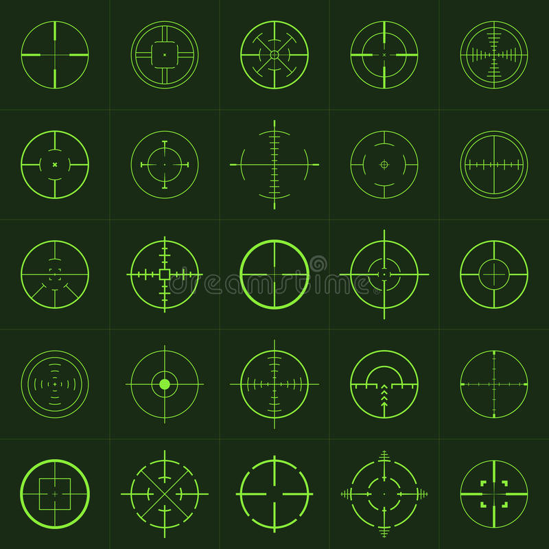 Crosshairs stock illustratie