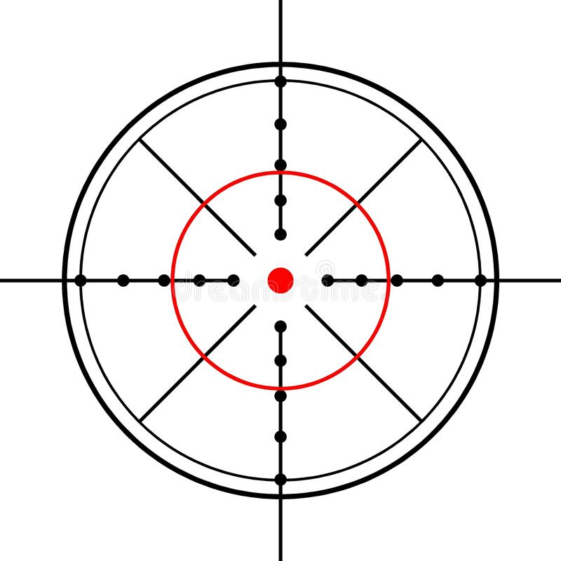 Crosshairs arkivfoton