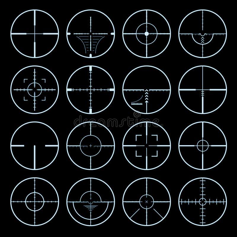 Crosshairs ajustados ilustração royalty free