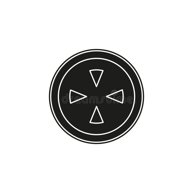 crosshairs icon - target aim, sniper symbol - weapon illustration stock illustration