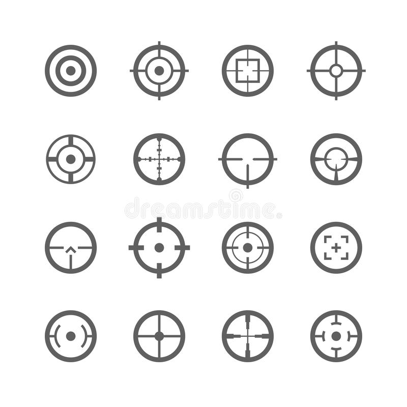 Free Crosshairs Icons Royalty Free Stock Photography - 37383797