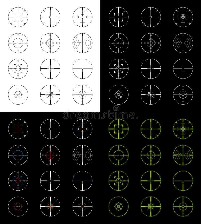 Crosshairs impostati royalty illustrazione gratis