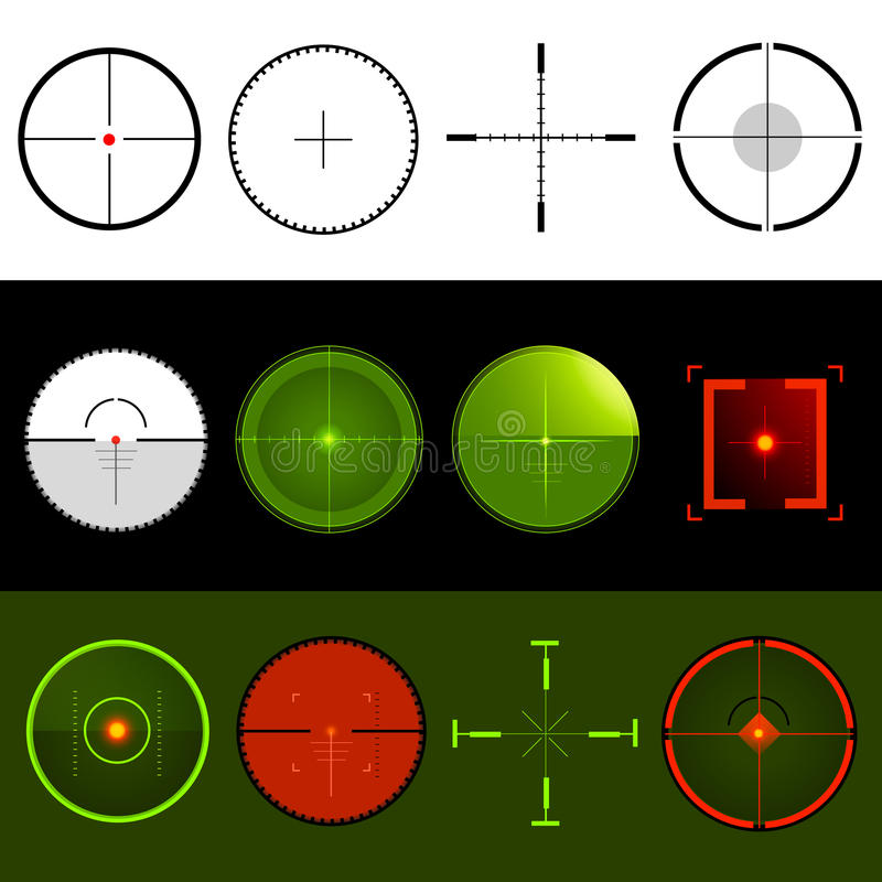Download Crosshairsmålvektor vektor illustrationer. Illustration av natt - 19794600