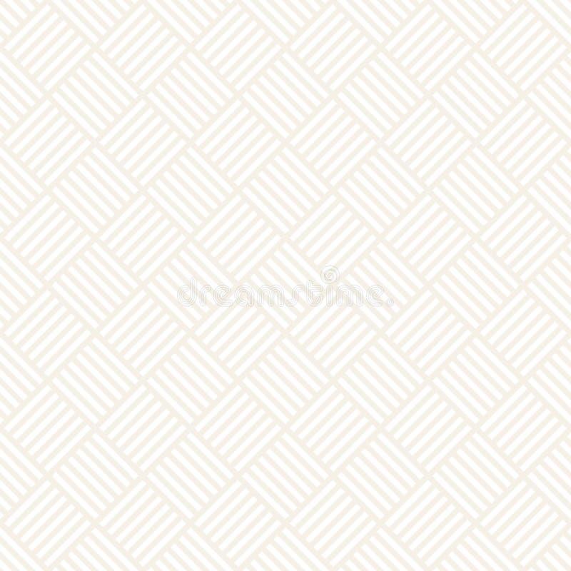 Crosshatch vector naadloos geometrisch patroon Gekruiste grafische rechthoekenachtergrond Geruit motief Naadloze subtiel stock illustratie