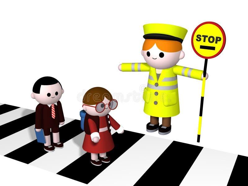crossing vektor illustrationer