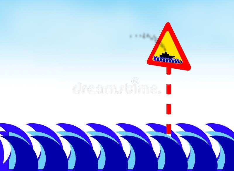 crossing för 2 fartyg royaltyfri illustrationer