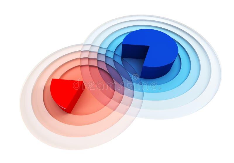 crossing för diagram 3d royaltyfri illustrationer