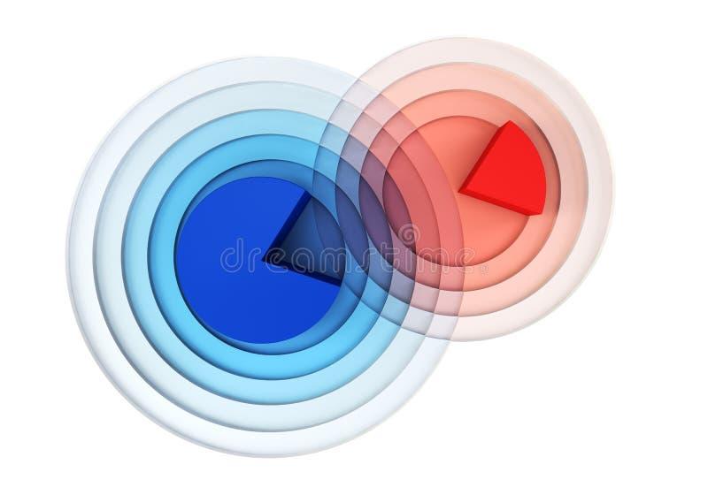 crossing för diagram 3d stock illustrationer