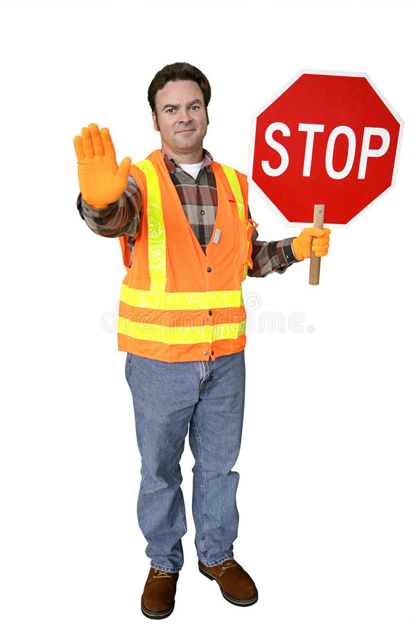 Free Crossing Guard Full Body Isolated Royalty Free Stock Photo - 1854895
