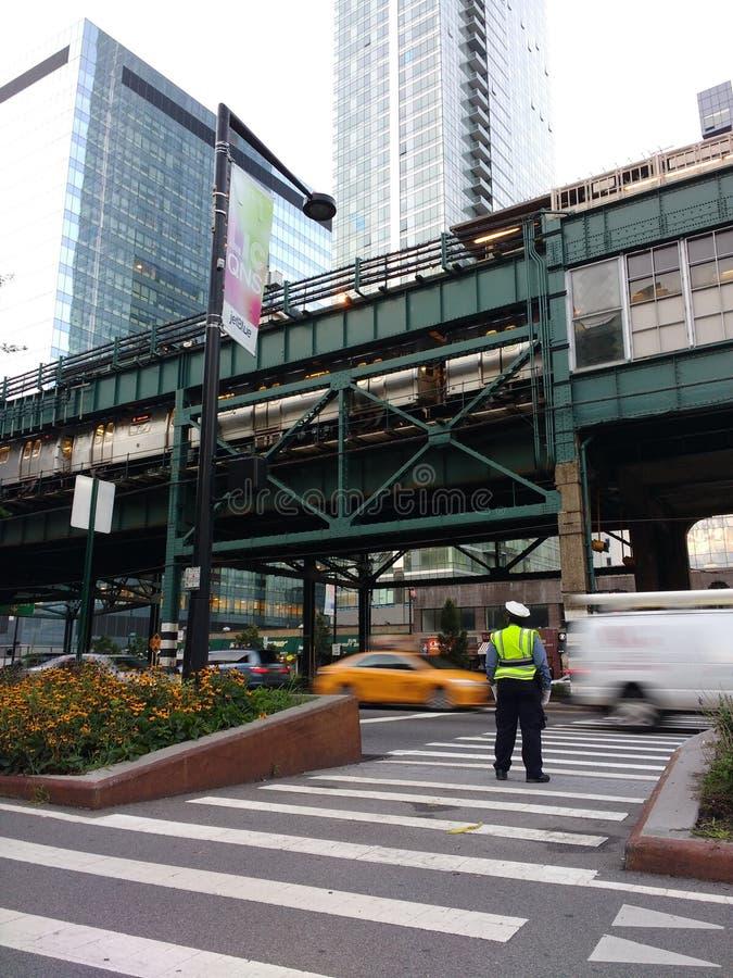Crossing Guard, Long Island City, LIC, Queens, NY, USA stock photos