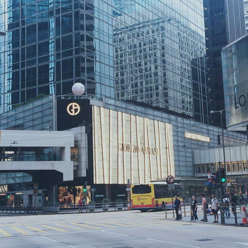 Crossing Hong Kong royalty free stock photos