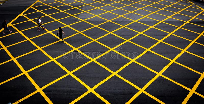Crossing The Lines royalty free stock images