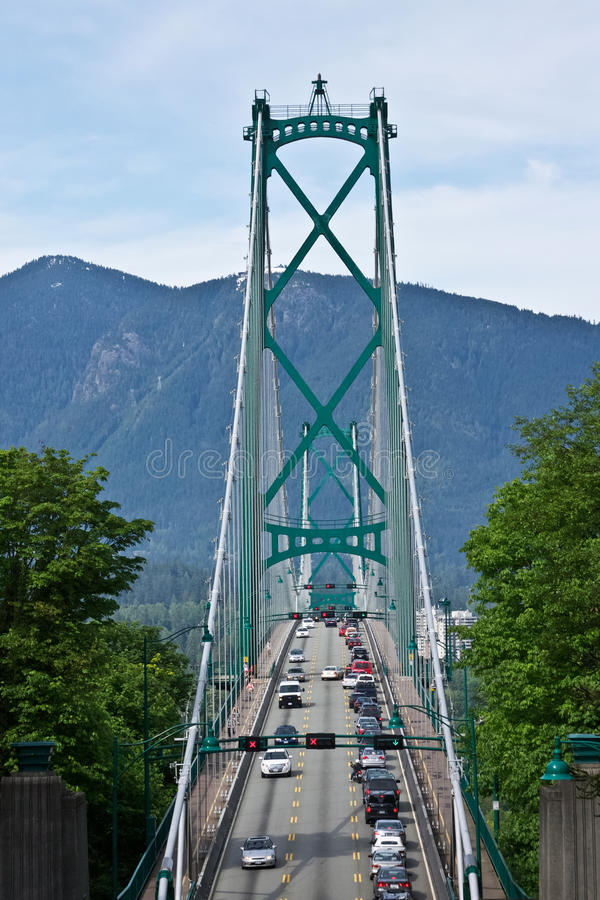 Crossing Lions Gate Bridge Royalty Free Stock Photos
