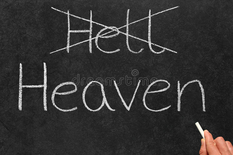 Download Crossing Out Hell And Writing Heaven. Stock Image - Image: 9703275