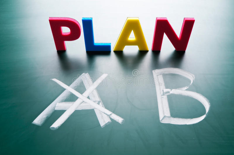 Crossing Out Plan A Royalty Free Stock Images
