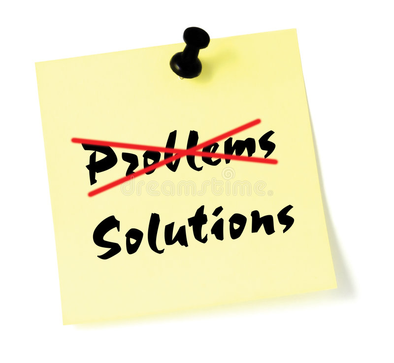 Crossing Out Problem business Solution solving stock illustration