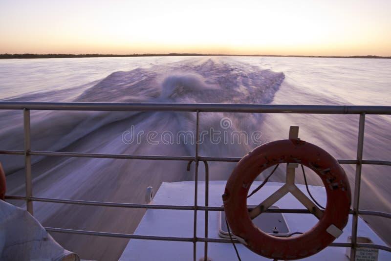 Crossing the Rio de la Plata.
