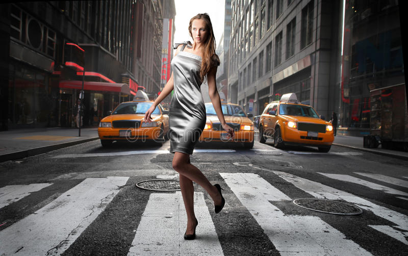 Download Crossing road stock image. Image of beautiful, road, fashion - 12694187