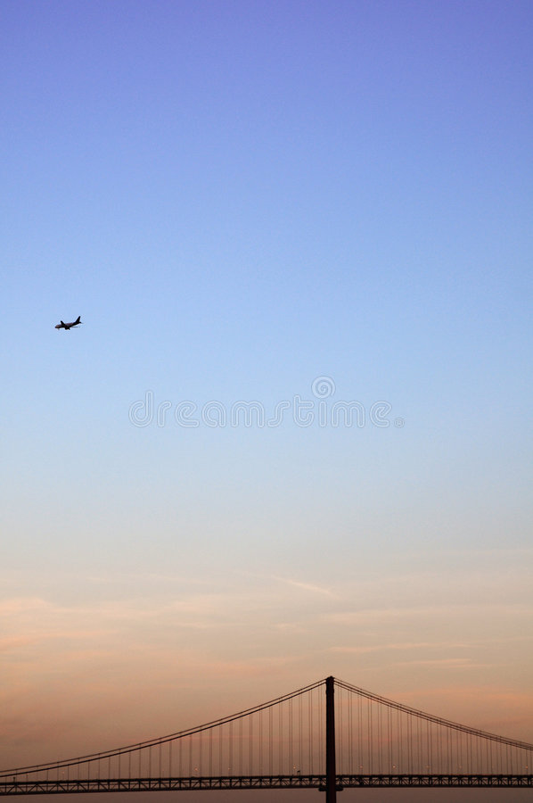 Crossing the sky royalty free stock images