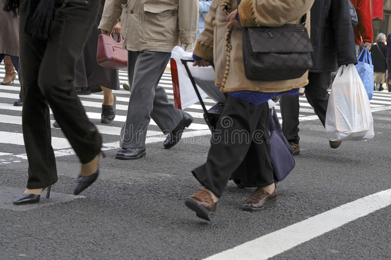 Download Crossing the street stock photo. Image of clothes, walking - 2178776