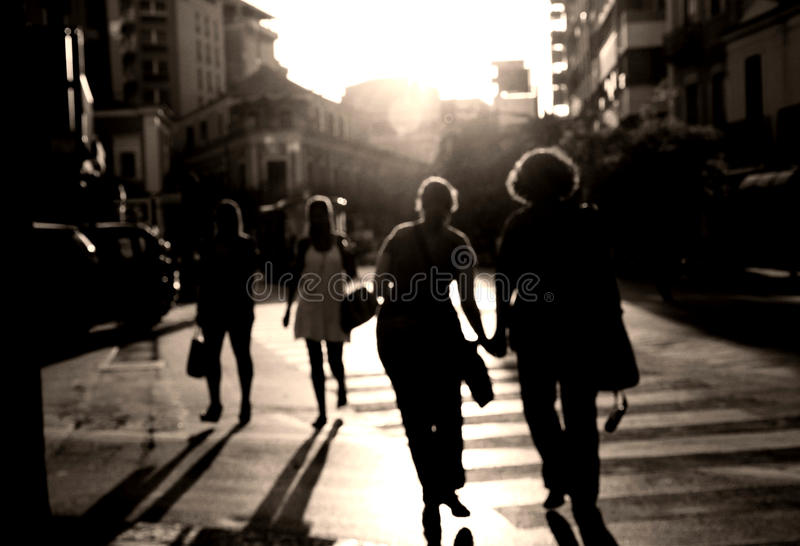 Download Crossing The Street Stock Image - Image: 26150891