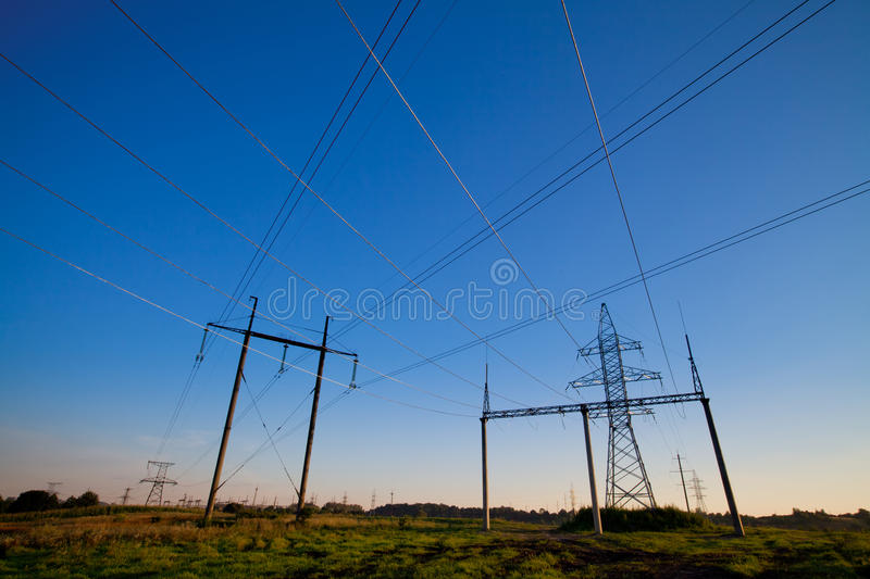 Download Crossing wires stock image. Image of electricity, distribution - 20669941