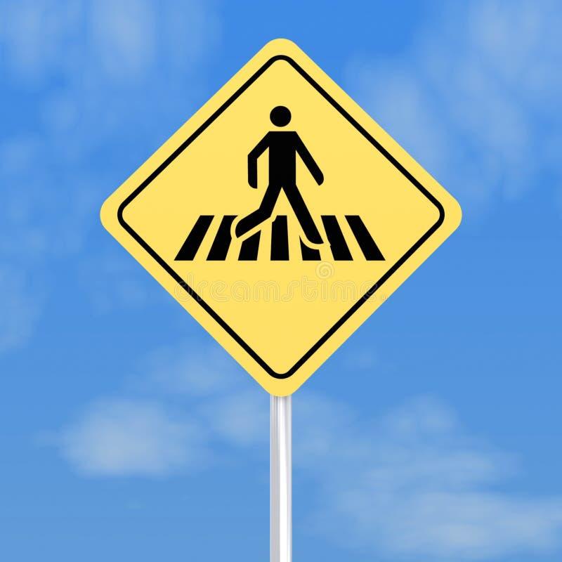 crossinggångaretecken vektor illustrationer