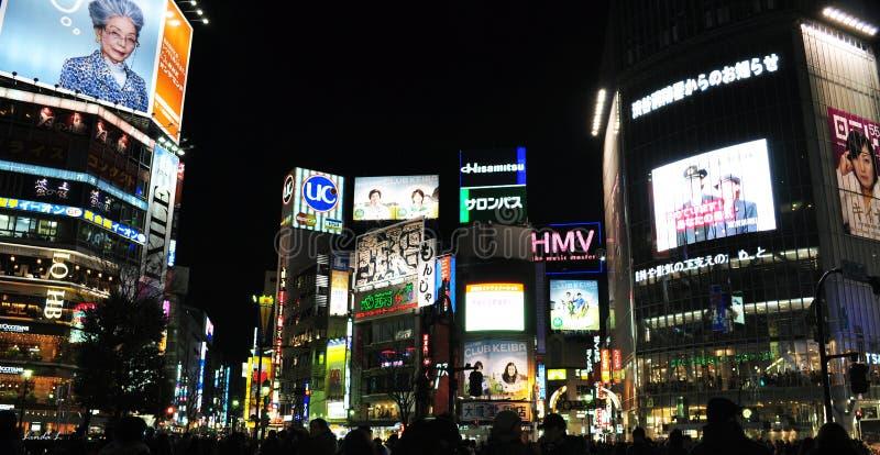 crossingshibuya arkivbild