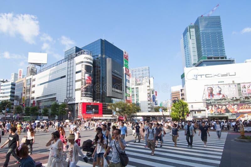 crossingshibuya tokyo arkivfoto