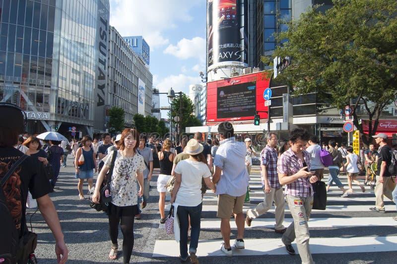 crossingshibuya tokyo arkivbild
