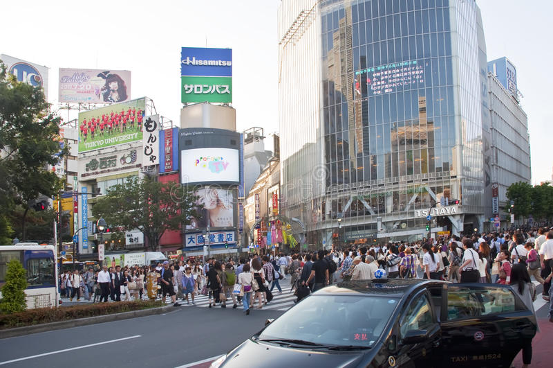 crossingshibuya tokyo arkivbilder