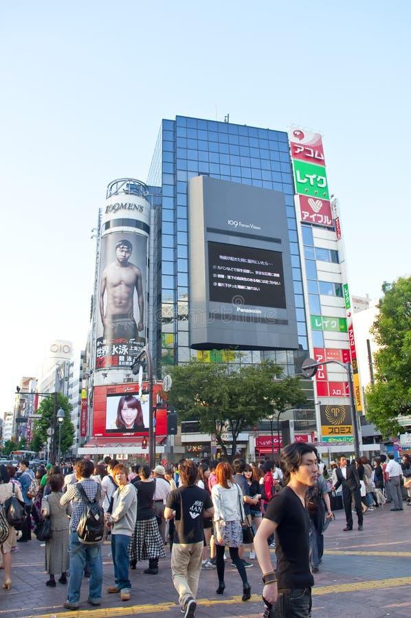 crossingshibuya tokyo royaltyfria foton
