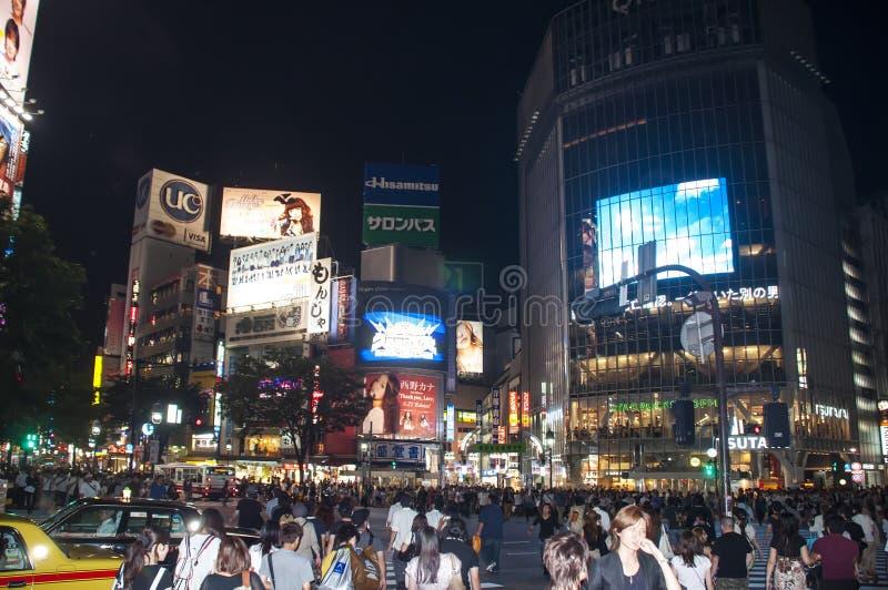 crossingshibuyatokio royaltyfri fotografi