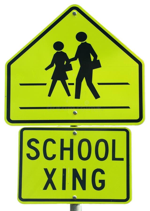 Download Crossingskola fotografering för bildbyråer. Bild av varnad - 238903