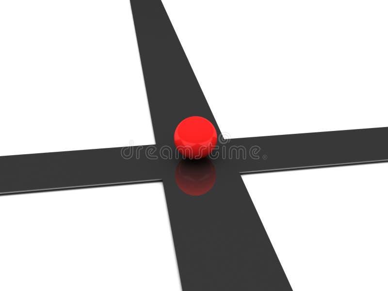 Download Crossroad stock illustration. Illustration of lost, choice - 14251317