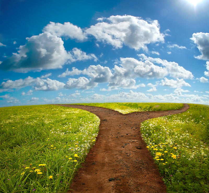 Free Crossroad On Hill Stock Photo - 13939680