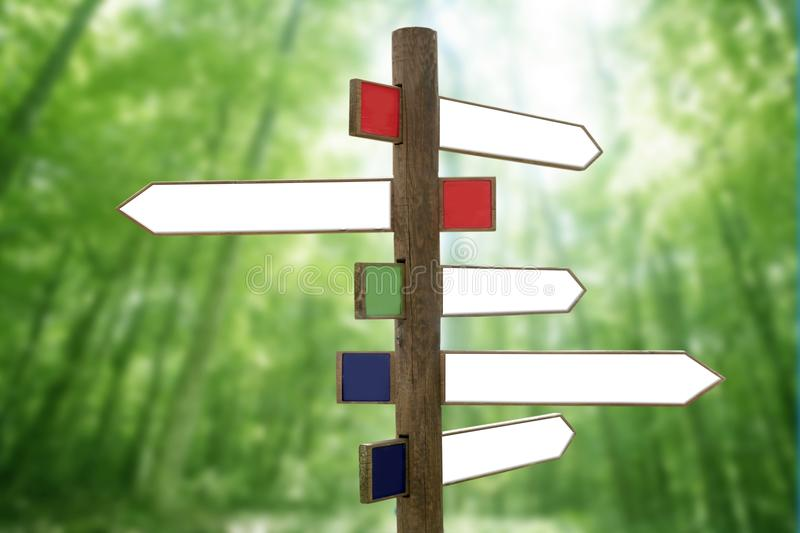 Download Crossroad Wooden Directional Arrow Signs Stock Image - Image of arrow, guide: 11965277