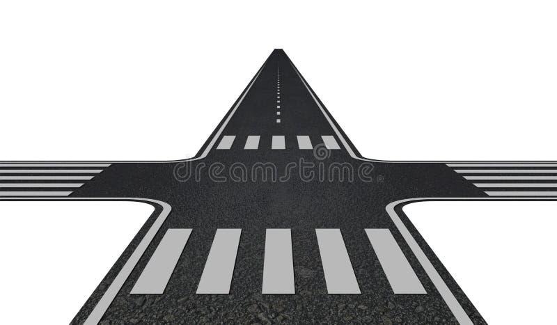 crossroads illustrazione vettoriale