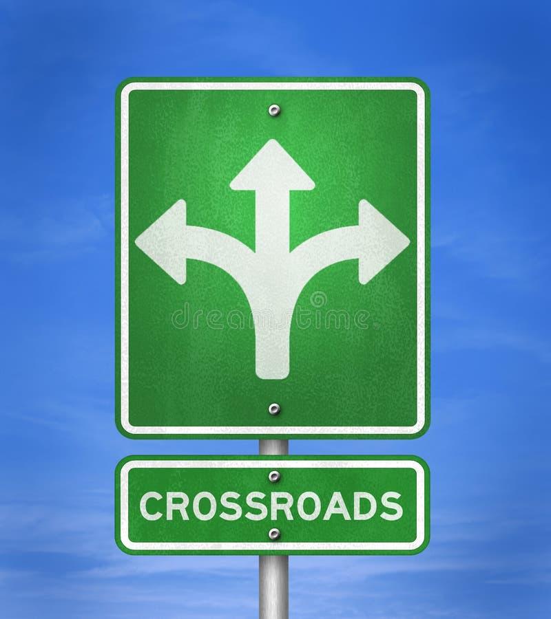 crossroads illustrazione di stock