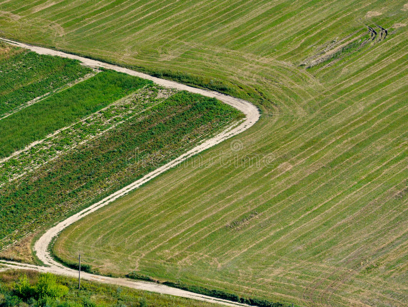 Crossroads and Fields royalty free stock photography